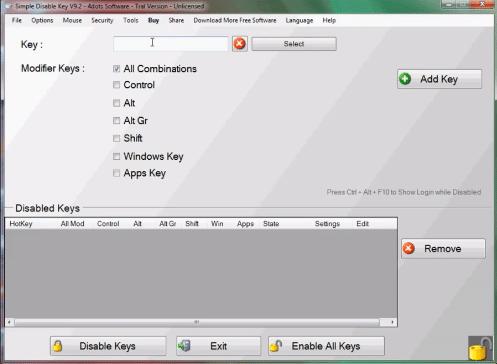 cara menonaktifkan beberapa tombol keybord laptop atau pc 2